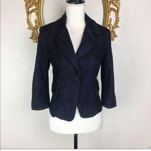 Talbots Denim Blazer Size 4P